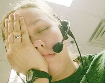Lo stress di un operatore dei call center